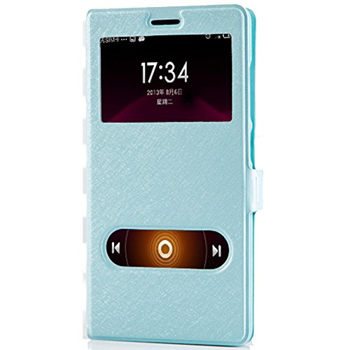 Ueasy Slim PU Leather Case for XIAOMI REDMI 1/1S For XIAOMI RED MI 1/1S Protective Flip Cover Case Stand Case (REDMI Note W Blue)