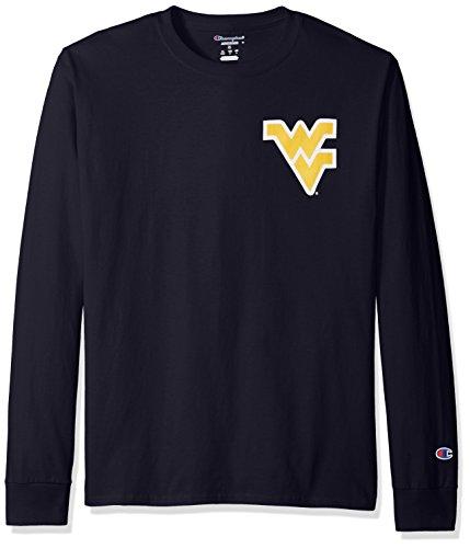 NCAA West Virginia Mountaineers Men's Champs Long Sleeve T-Shirt, Medium, Navy