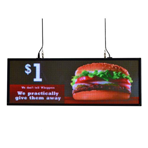 "39""x14""Full Color LED Sign P5 for Store Display Messages Free Design Ads from Sheen Sign"