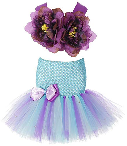 (Tutu Dreams Little Mermaid Costume for Girls Fancy Princess Tutu Dress Birthday Halloween Party (Medium, Mermaid)