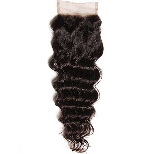 - YIROO 7A Brazilian Natural Wave Lace Closure Free Part 100% Virgin Human Hair Natural Color (12