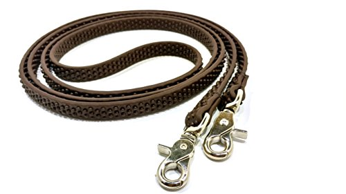 Ultimate Bitless Bridle Super Grip Biothane Reins with Bumps (Brown) ()