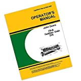 John Deere Fb-B Fb117b Series Fertilizer Grain Drill Owner Operators Manual with Instructions for Operating Maintenance and Adjustments