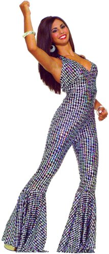 [Boogie Dancing Babe Disco Costume - Womens M-L (8-12)] (Abba Jumpsuit Costume)