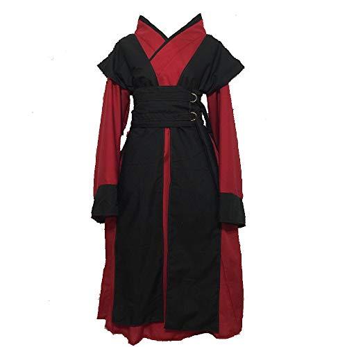 Queen Padme Amidala Decoy Costume Dress Halloween Cosplay for Women Red