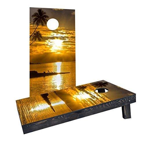 特別オファー Custom Cornhole Custom Boards Incorporated CCB458-AW Sea B07HLDZWF8 Sunset Cornhole Cornhole Boards [並行輸入品] B07HLDZWF8, 大同ネットSHOP:7ea3eff4 --- ballyshannonshow.com