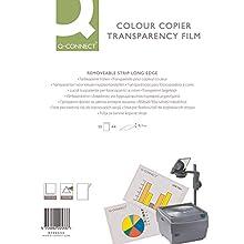 Q-Connect KF00533 - Transparencias A4 para impresoras láser (50 unidades)