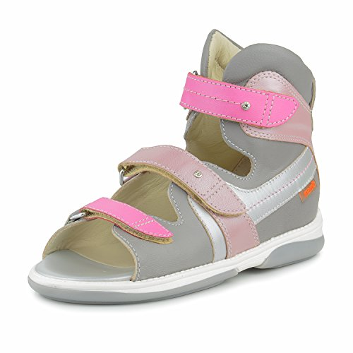 Memo Iris 3JD Girls' Orthopedic Ankle Support High Sandal, 37 (5 Big Kid) by Memo