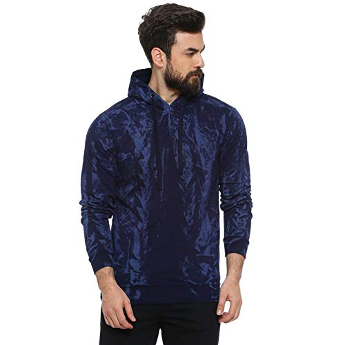 Campus Sutra Men Full Sleeve Self Design Stylish Casual Sweatshirt