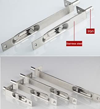 UHPPOTE Stainless Steel Door Gate Bolt Latch Lever Action Flush Slide Lock Bolt 6 inch//Pack of 2