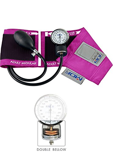 MDF Calibra Pro Aneroid Sphygmomanometer - Professional Blood Pressure Monitor with Adult Sized Cuff Included - Full & Free-Parts-For-Life - Fuscia (MDF808B-32)