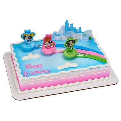 A1 Bakery Supplies Powerpuff Girls The Day Is Saved Cake Decorating Set Amazon Grocery Gourmet Food