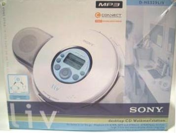 SONY Desktop CD Walkman with Attachable Compact Speaker Station