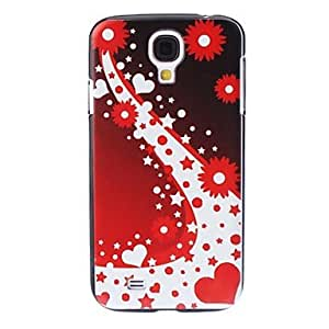 Red Flower Pattern Hard Case for Samsung Galaxy S4 I9500