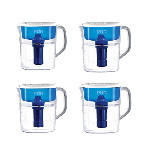 PUR Ultimate Pitcher with LED Indicator, 7-Cup Pack of 4 by PUR