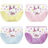 HEETEY 4Pcs Baby Girls Kids Underwear Pants Dogs Cartoon Underwear Short Pants Soft Children Underwear Pants Briefs for 2-10 Years Old
