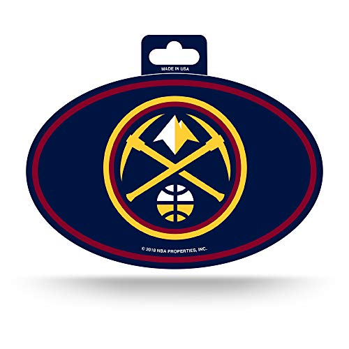 NBA Denver Nuggets Color Team Logo Oval Sticker