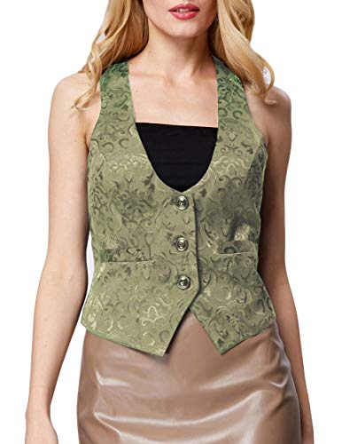GRACE KARIN Women's 3 Buttons V-Neck Economy Dressy Suit Vest -