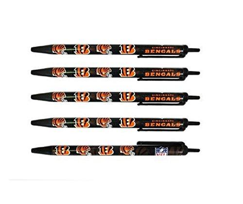 Cincinnati Bengals Pen (NFL Cincinnati Bengals Retractable Click Pens 5 Pack)