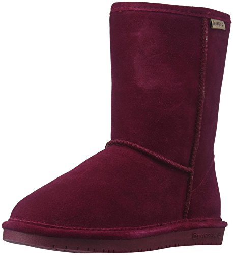 - BEARPAW Women's Emma Short Fashion Boot, Wine, 7 Medium US