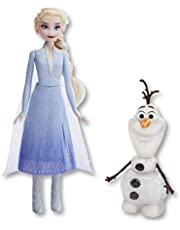 Disney Frozen 2 - Talk & Glow Olaf with Remote Control Elsa Doll - 20+ Sounds & Phrases - Kids Toys - Ages 3+