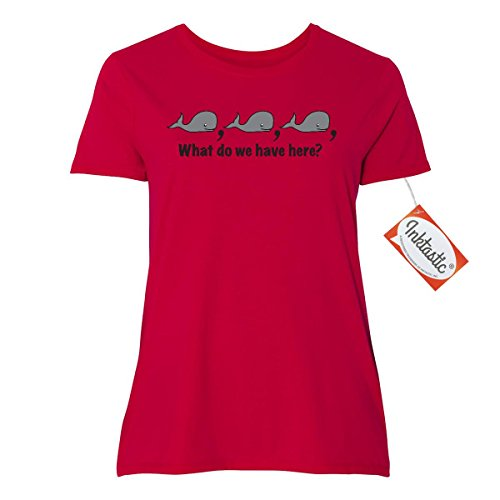 Inktastic Whale, Whale, Whale Women's Plus Size T-Shirt 5 (30/32) Red (Womens Plus Size Authentic Caribbean Pirate)
