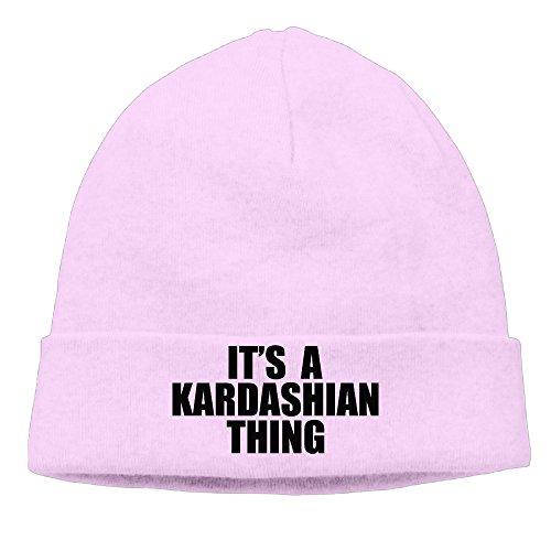 [Caromn Kim Kardashian Thing Beanies Skull Ski Cap Hat Pink] (Dark Souls Black Knight Costume)