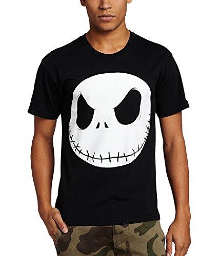 (Nightmare Before Christmas Jack Skellington Face T-Shirt-X-Large)
