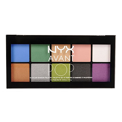 NYX PROFESSIONAL MAKEUP Avant Pop! Shadow Palette, Art Throb, 0.5 Ounce