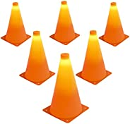 GoSports Led Light up Sports Cones, 6-Pack, 9-Inch
