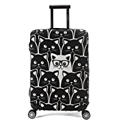 Madifennina Luggage Protector Cover Suitcase Protective Cover Trolley Luggage Case for 23-32 inch luggage (Cat, M…