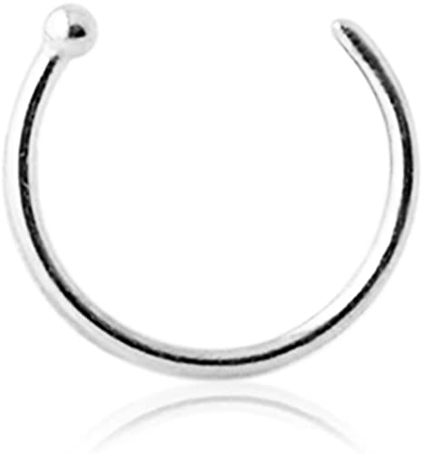 Nose Hoop 20G 5//16 Ring Nose Studs Rings Nose Hoop Fashion Piercing Jewelry 8mm A