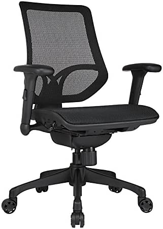 WORKPRO Mid-Back Mesh Task Chair, Black
