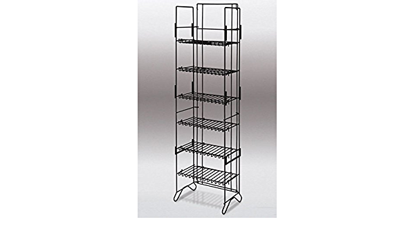 6-shelf Compact Merchandiser in Black 52 H X 13.5 W X 8.75 D Inches