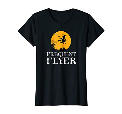 Frequent Flyer T Shirt Witches Costume Idea Funny Cute -