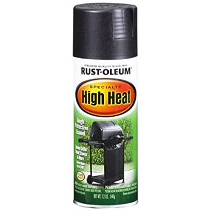 Rust Oleum 7778830 High Heat Enamel Spray 12 Oz Bar B Que Black