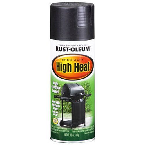 Rust-Oleum 7778830 High Heat Enamel Spray, Bar-B-Que Black, 12-Ounce