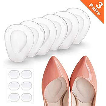 3 Pairs Mildsun Ball of Foot Cushions Adhere to Shoes for Neuroma, Metatarsal Pads with Water Drop Shape 4D Design, Professional Reusable Soft Gel Insole, All Day Metatarsal Pain Relief and Comfort