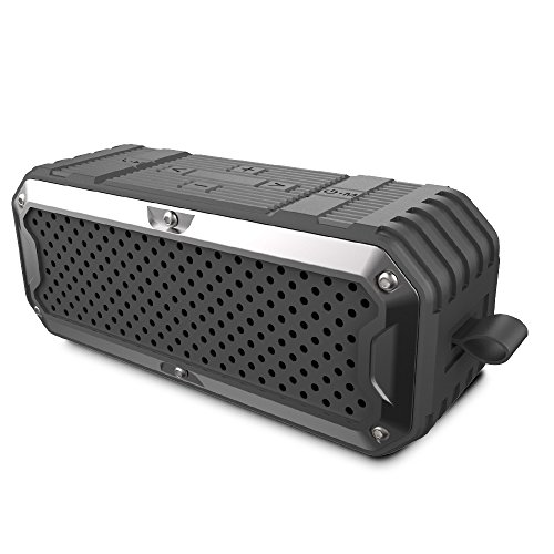 ZEALOT S6 Waterproof Portable Wireless Bluetooth Speakers Power Bank with Built-in 5200mAh Battery, Dual Drivers, Subwoofer, Aux Audio and TF Card - Gray