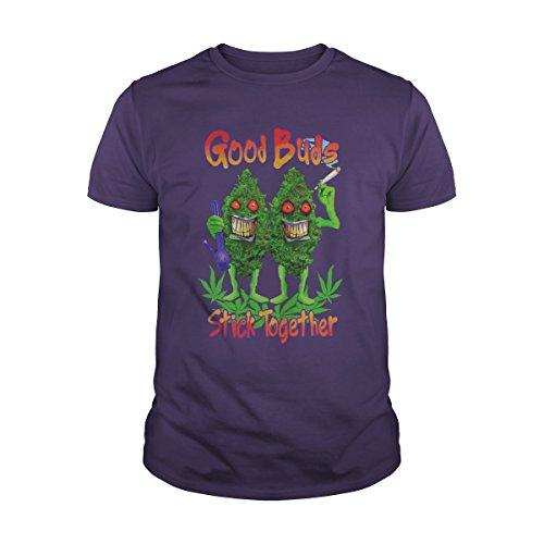 Men's Good Buds Stick Together T-Shirt (S, Purple) (Best Buds Stick Together Shirt)