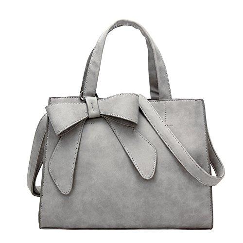 Meoaeo New Bow Crossbody Bag Small Bag Fresh Summer Light Gray Matte Black Hand