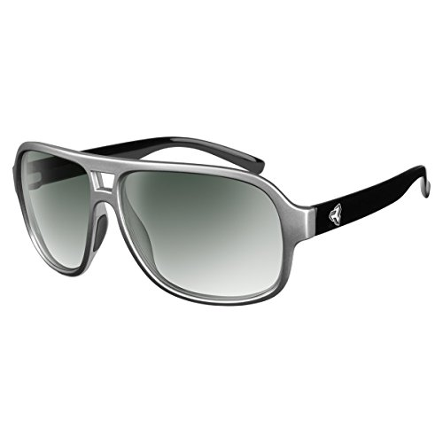 Ryders Eyewear Pint Polarized Sunglasses (STEEL SILVER-BLACK / GREEN LENS FM GRADIENT) by Ryders