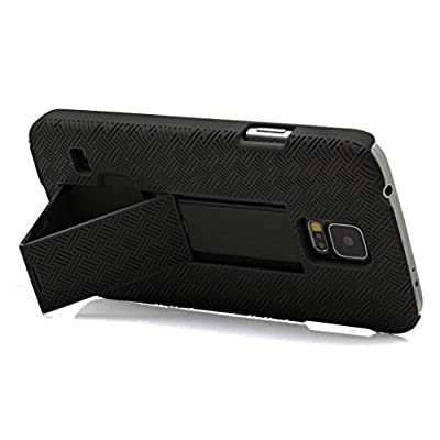 Samsung Galaxy S5 Case, Black Swivel Slim Belt Clip Holster Armor Protective Case, Defender Cover (SHELL HOLSTER COMBO) (BLACK HOLSTER SHELL COMBO) from GALAXY WIRELESS