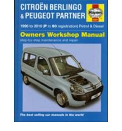 Citroen Berlingo & Peugeot Partner Petrol & Diesel: 1996 to 2010 (Haynes Service and Repair Manuals) (Hardback) - Common