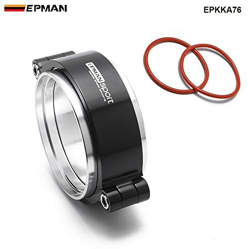 EPMAN EPKKA76 HD Exhaust V-band Clamp with Flange System Assembly Anodized Clamp for 3