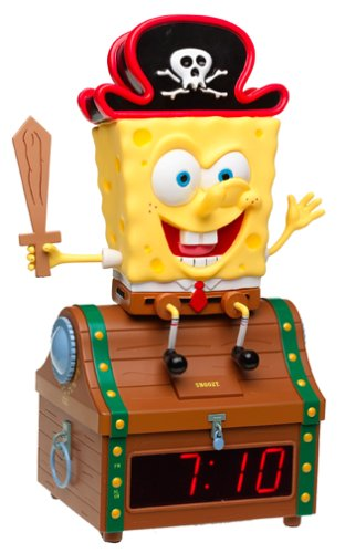 POLYCONCEPT USA SPONGEBOBCLOCK CLOCK RADIO