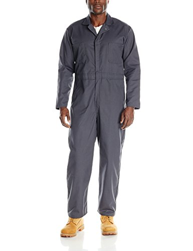 Red Kap Men's Long Sleeve Twill Action Back Coverall, Charcoal 38