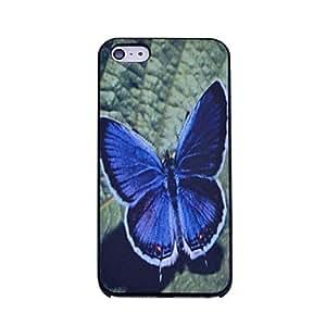 ZCL-Lureme el caso duro del patrón azul de la mariposa para el iphone 5/5s