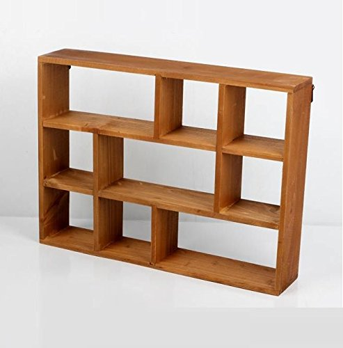 """Chris.W Wall Mounted / Freestanding Cubeicals Off-set Mini 9 Compartment Wooden Organizer Holder Rack Shelf Collection- 15-1/2"""" x 3"""" x 11-1/2"""" - Units can be freestanding or wall-hanging. Eliminate clutter and maximize space with this 9-compartment off-set wood organizer for quick organization. Overall Dimensions(LxWxH): 15-1/2"""" x 3"""" x 11-1/2"""". - wall-shelves, living-room-furniture, living-room - 41HC8NthdDL -"""