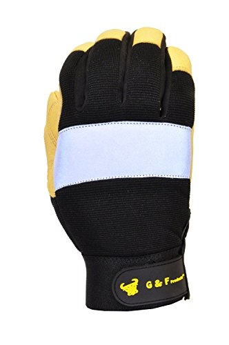 GF Gloves 1091XL-12 Dark Owl High Visibility Reflective Performance Gloves, X-Large, Yellow (Pack of 12) by GF Gloves (Image #1)